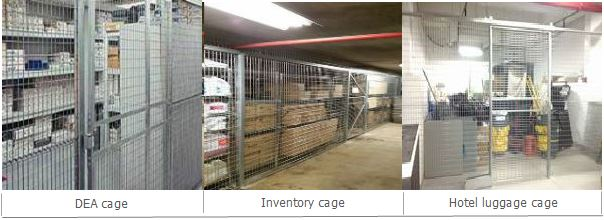 LockersUSA DEA cage, Inventory cage, hotel luggage cage